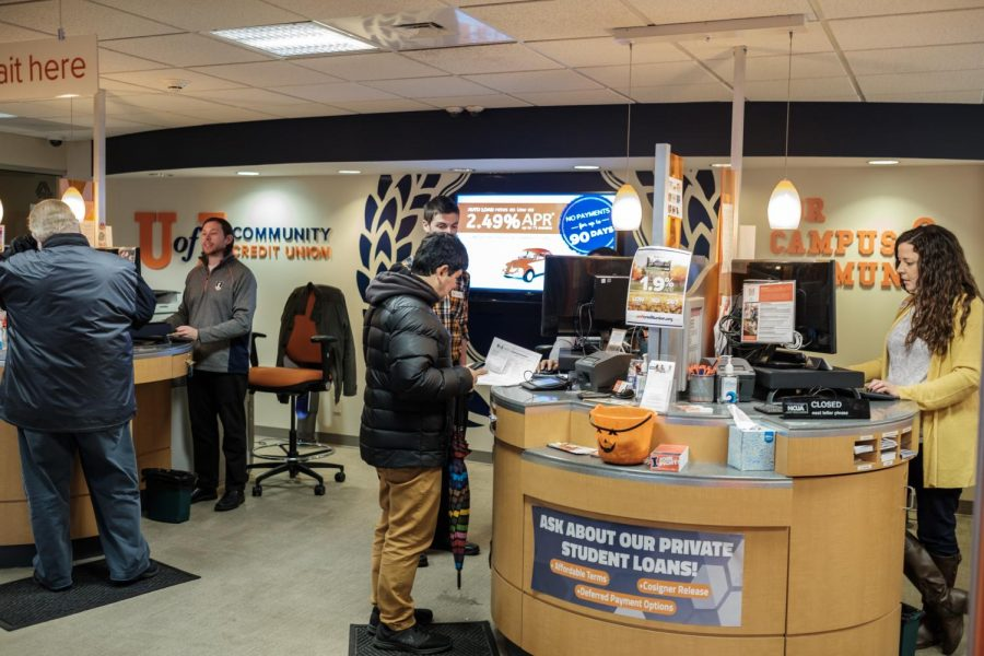 The+interior+of+the+University+of+Illinois+Community+Credit+Union+on+Tuesday.%0A