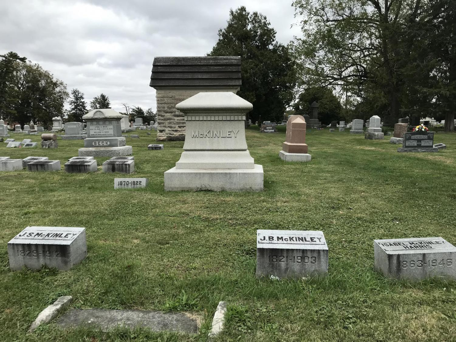 Memorials and tombstones of significant figures in University history lay within Mount Hope Cemetery on Saturday. The cemetery is located on Pennsylvania Avenue in Champaign.