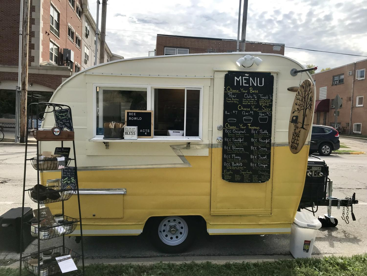 The new Just BEE Acaí food truck is parked on Goodwin Avenue and Oregon Street. The food truck has been soaring in popularity ever since its launch this summer.