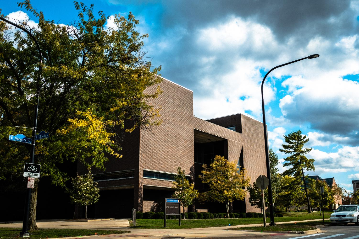 The Levis Faculty Center sits on the corner of Gregory and Illinois on Tuesday.