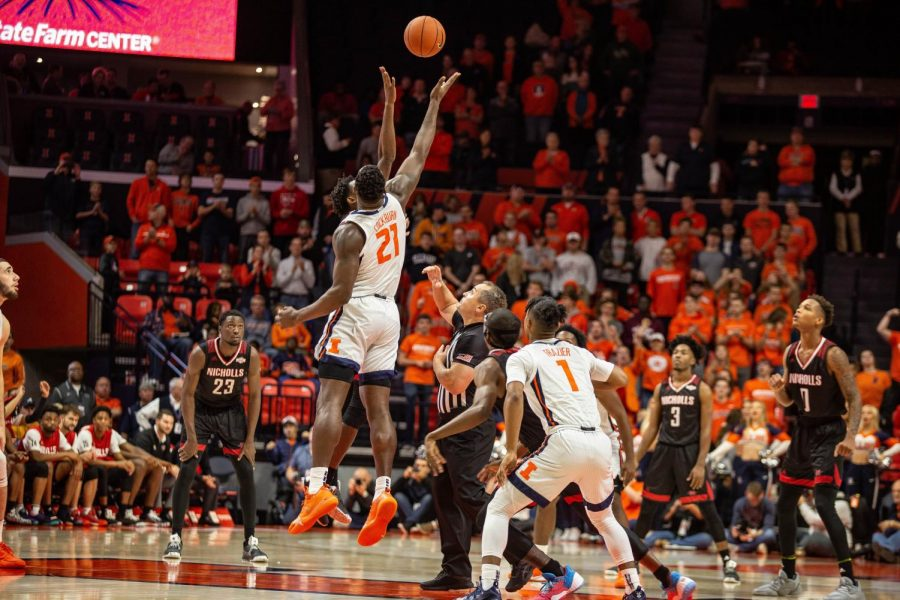 Illini+Men%27s+Basketball+faced+Nicholls+State+at+State+Farm+Center+on+Nov.+5%2C+2019.+