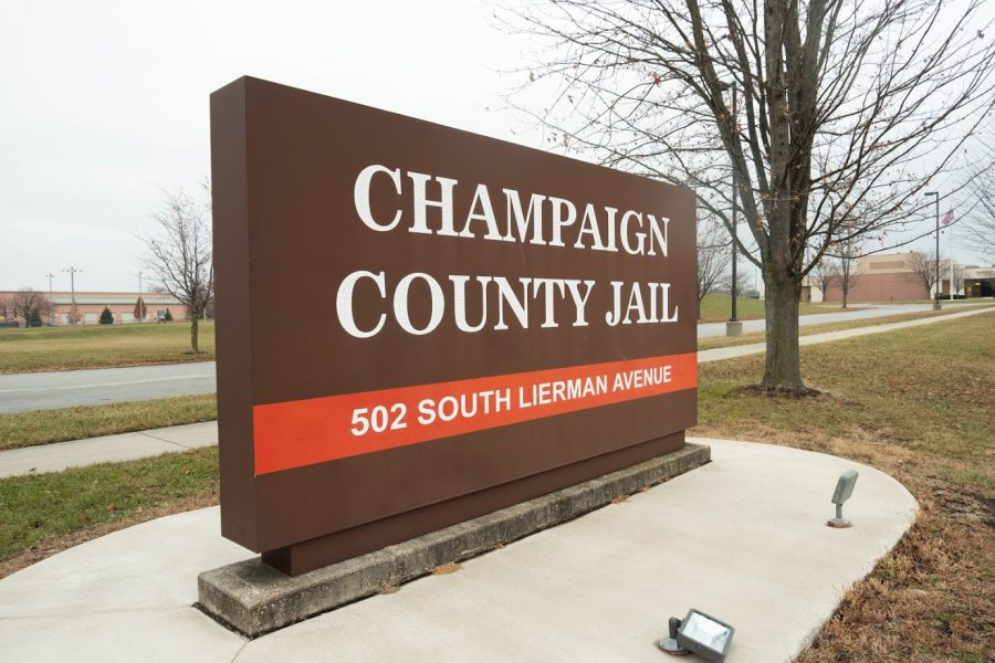The sign for Champaign County Jail stands on South Lierman Avenue in Urbana on Nov. 24. The downtown facility building is facing more severe deterioration, but both jails in Champaign County are said to be lacking in rehabilitative programs and recreational spaces.