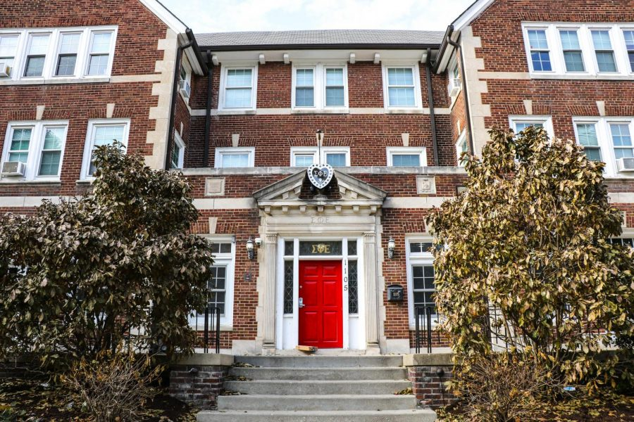 The outside of the Sigma Phi Epsilon house on Fourth Street is shown on Sunday. The national chapter of Sigma Phi Epsilon has announced its departure from the North American Interfraternity Conference following safety concerns.
