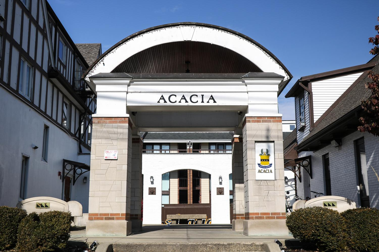 The Acacia Fraternity house is shown at 302 E. Armory Ave. on Sunday. The fraternity recently took responsibility for a string of stolen decorations across the Champaign-Urbana area.