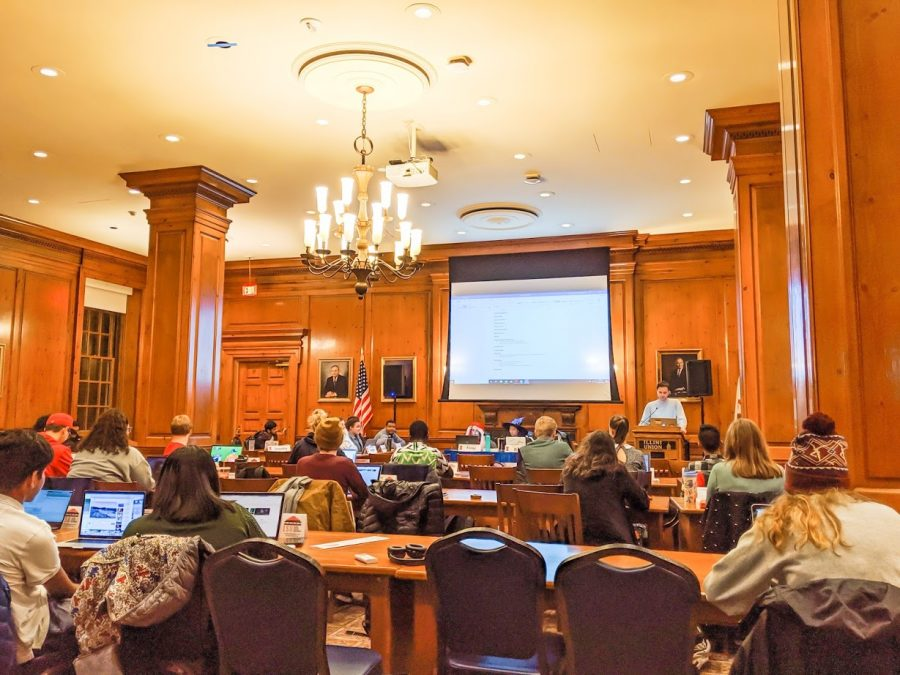 Illinois Student Government meets at the Illini Union on Oct. 30.