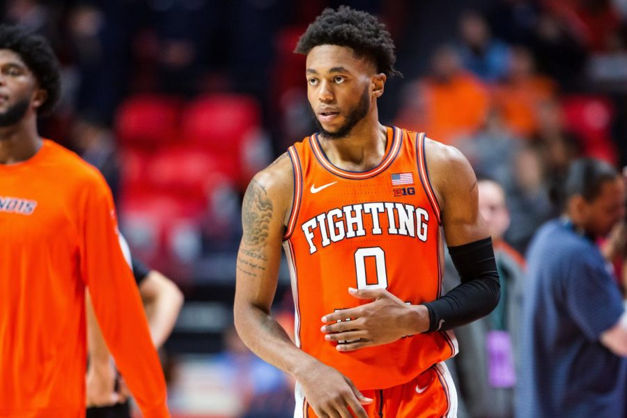 Sophomore Alan Griffin plays during Illinois' game against the Citadel at State Farm Center Nov. 20, 2019. Illinois won 85-57. Captured at State Farm Center on 20 Nov. 2019 by Jonathan Bonaguro.