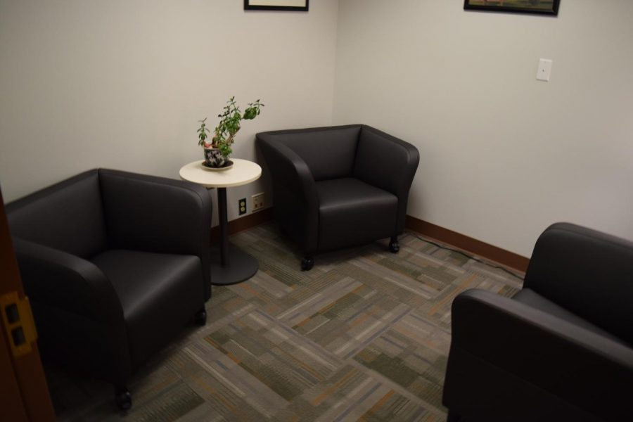 The soft interview room, which features comfortable chairs, wall decorations and soft lighting, is meant to make victims of traumatic crimes feel more comfortable sharing crime details with police detectives during investigations.