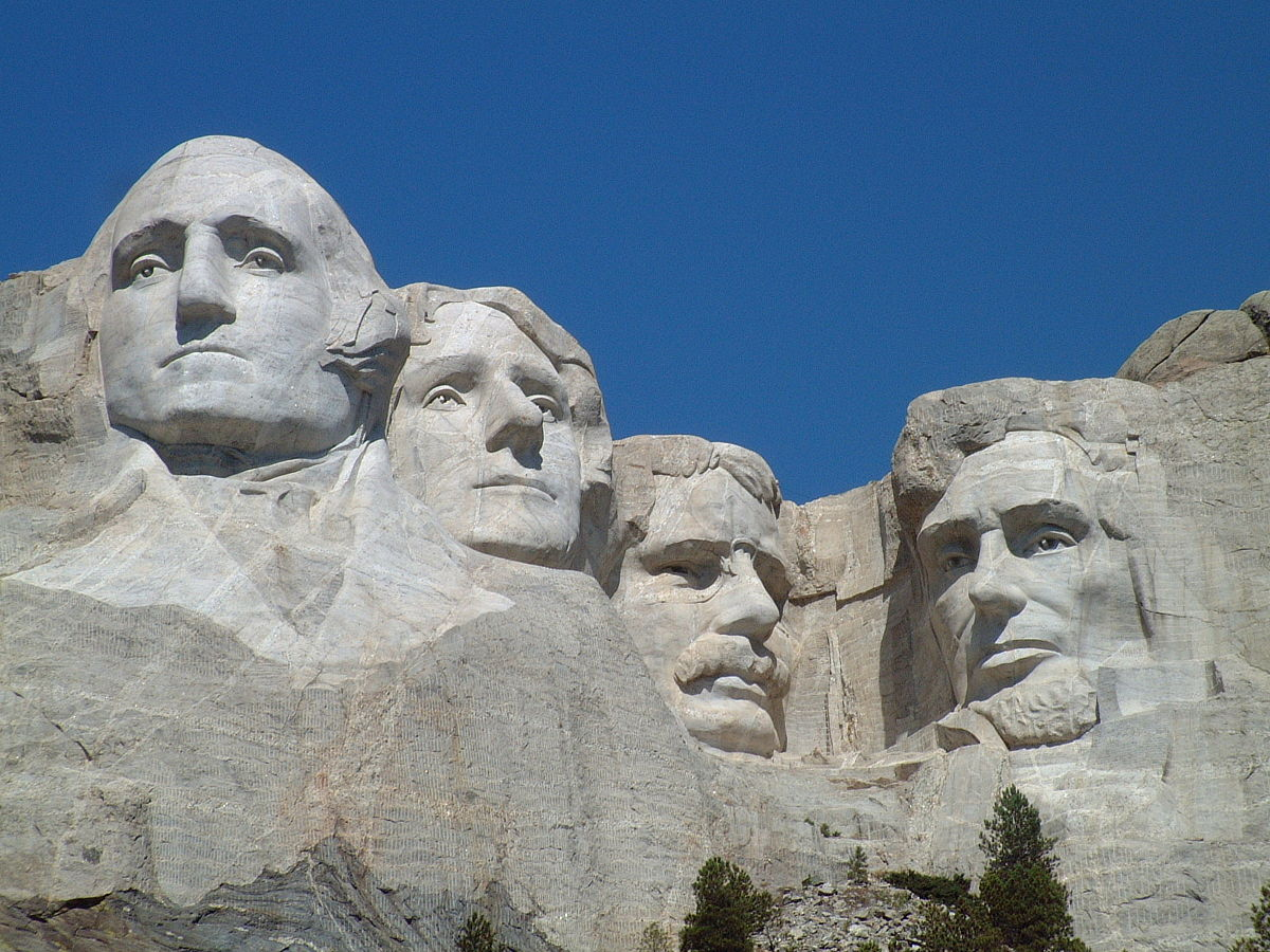The Mount Rushmore National Memorial on Aug. 20, 2005.