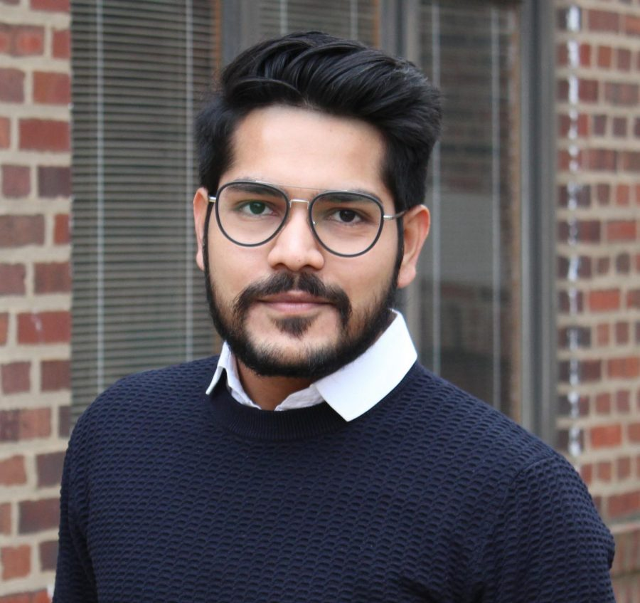 Graduate Student Pranay Parmar poses for a headshot. Parmar is one of the four members of the group who took first place in the School of Information Sciences Data Visualization Competition.