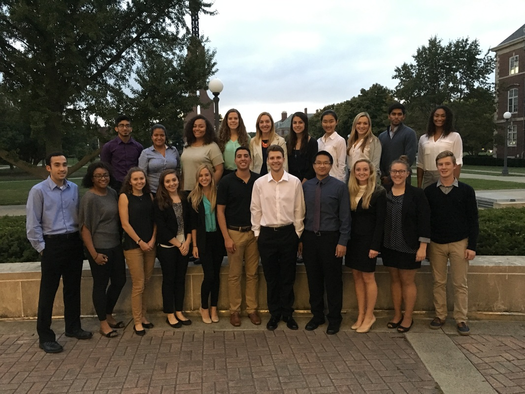 Members of the Pre-Law Honors Society pose for a photo in the fall of 2015. The University's Pre-Law Honors Society has been active since 2009.