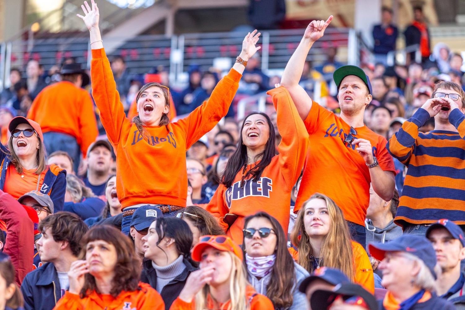 Illini fans cheer from the stands during the Redbox Bowl at Levi's Stadium in Santa Clara, Calif. Illinois lost to California 35-20 Monday.