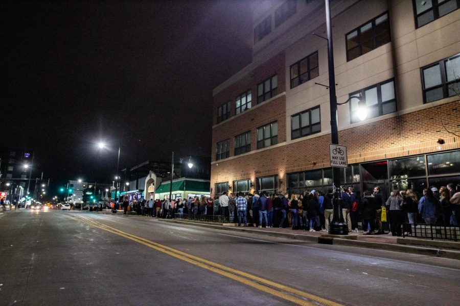 The line for KAM's on its opening night stretched over a street block.