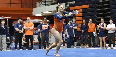 Women's gymnastics bests first ranked opponent of season