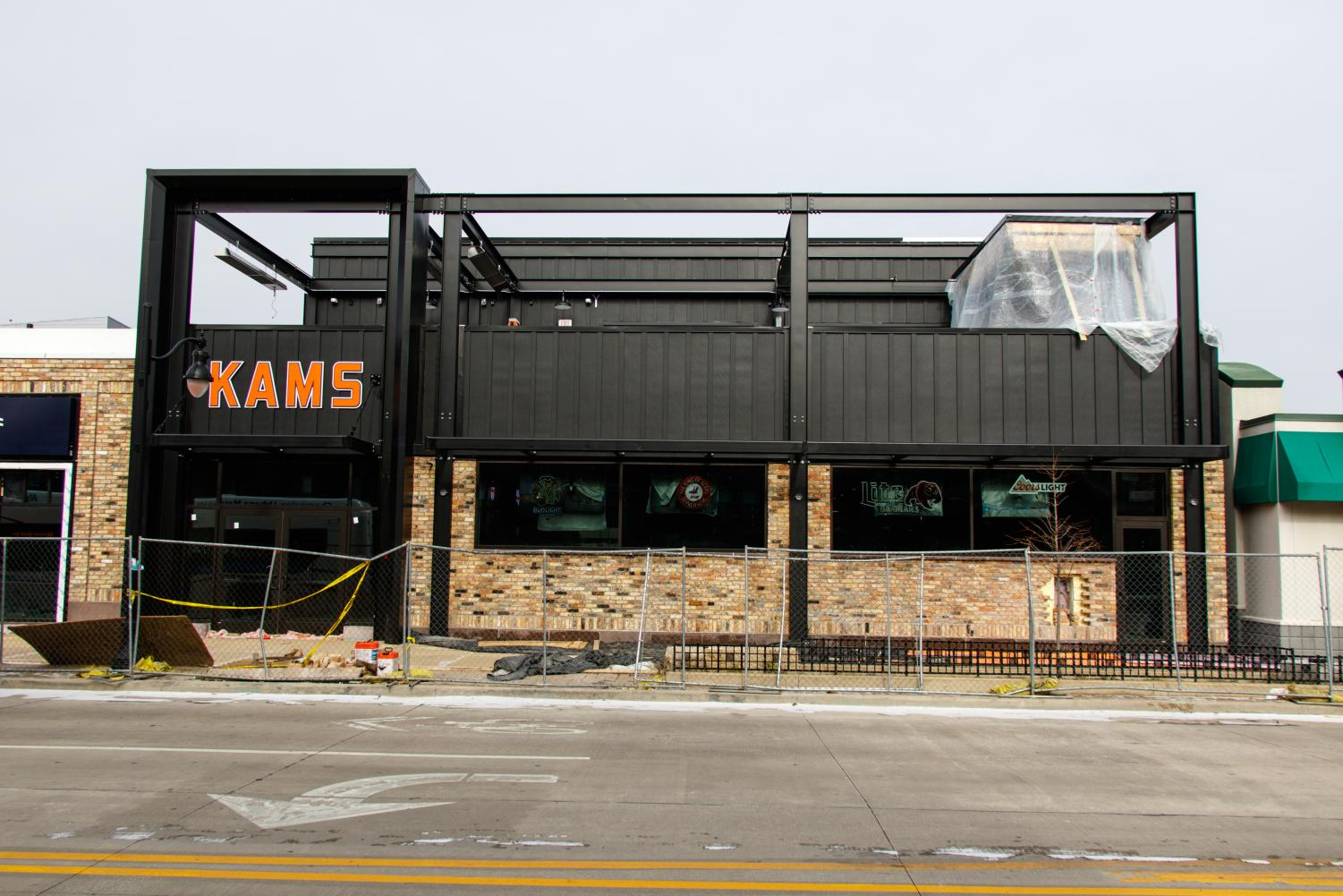 The new KAM's location, which sits on the corner of First and Green treets, remains under construction on Monday. The original opening date was scheduled for New Year's Eve, though the new date remains up in the air with construction still underway.