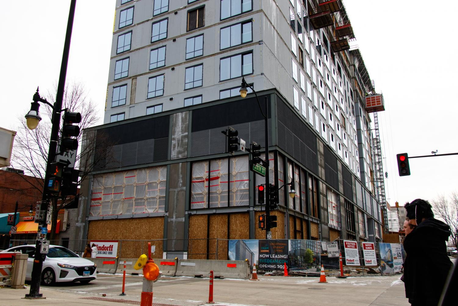 A Target is being built on the first floors of a high rise apartment building on the corner of Fifth and Green streets. With development booming in the Champaign-Urbana area, many businesses like Trader Joe's are considering moving to the area.