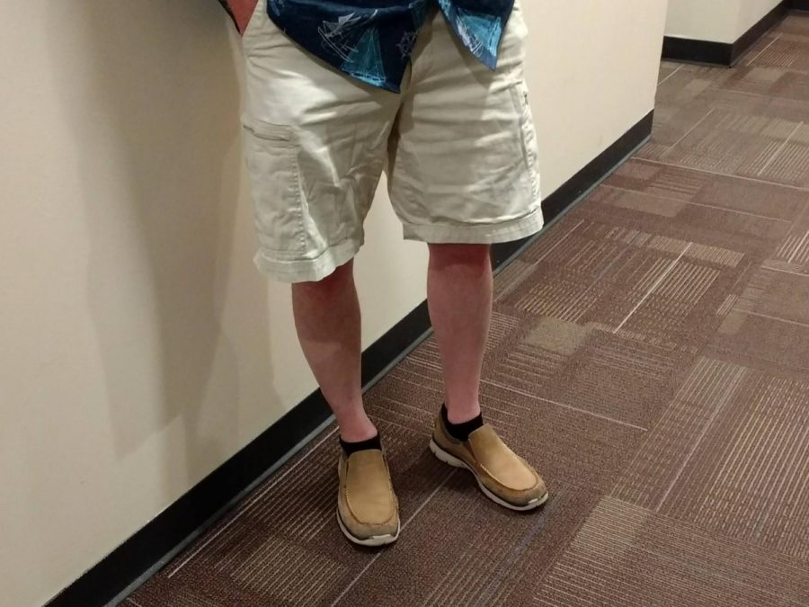 Pictured above are cargo shorts which usually feature a large amounts of pockets.