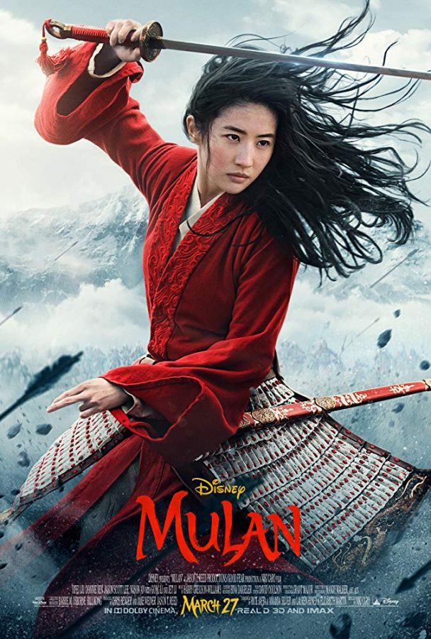 A+poster+advertising+the+live+action+remake+of+%E2%80%9CMulan%E2%80%9D+features+female+lead+Yifei+Liu.+Columnist+Alice+believes+the+live+action+film++is+more+culturally+authentic+than+its+animated+counterpart.