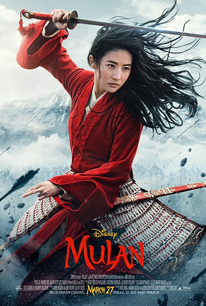 """A poster advertising the live action remake of """"Mulan"""" features female lead Yifei Liu. Columnist Alice believes the live action film  is more culturally authentic than its animated counterpart."""