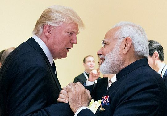 President Donald J. Trump shakes hands with Prime Minister Narendra Modi on July 7, 2017. Columnist Neshmia indicts the Indian government for its poor treatment of the Kashmiris and urges the U.S. to reconsider its solidarity with India.