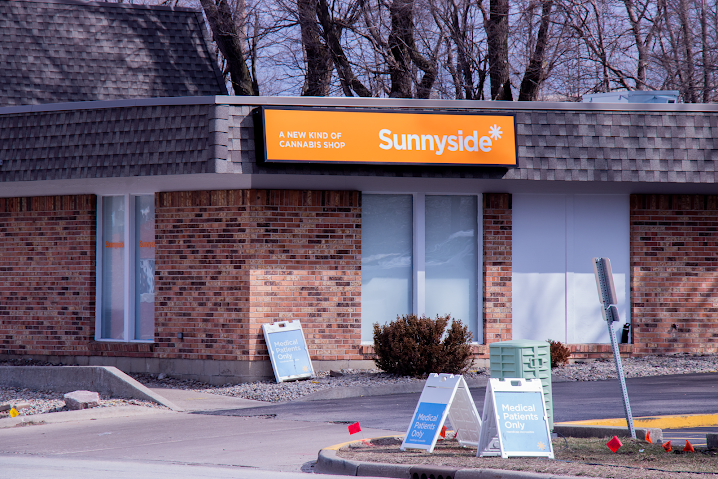 The Sunnyside Dispensary, located on S. Neil St, on Tuesday. It is unknown how newly legalized recreational marijuana will impact Unofficial activities.
