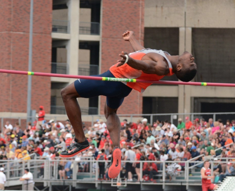 Senior Jonathan Wells clears the high jump bar during the Big Ten Championships in May 2015. Following six All-American recognitions, Wells reflects on the challenges amid his success.