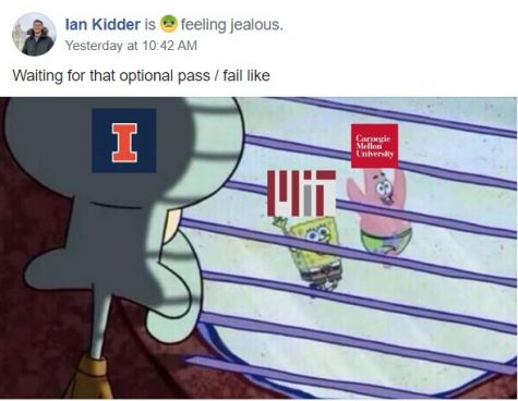Ian Kidder posts a meme to the Facebook group