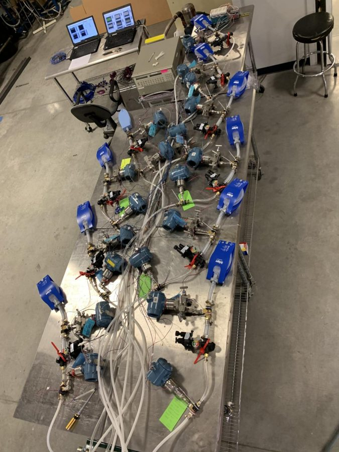 The Illinois RapidVent team fabricated several prototypes of their ventilator design for testing and refinement.