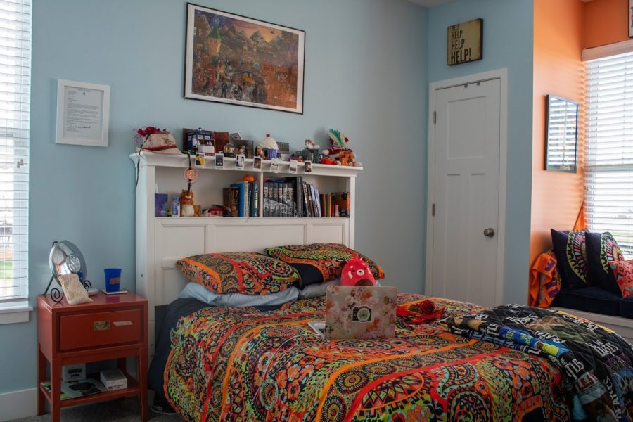 Photographer Madeline Pierce's bedroom on Tuesday. Pierce currently lives in Edwardsville, IL.