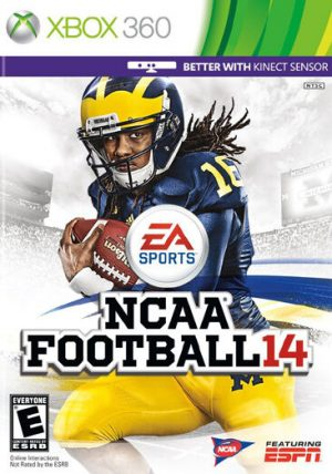 The cover for the NCAA 14 videogame by EA Sports.