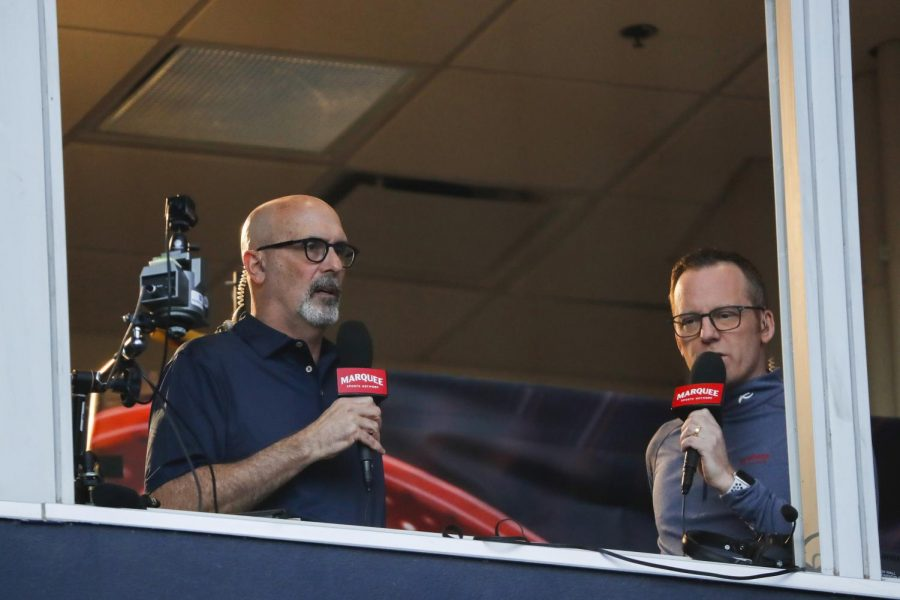 Marquee Sports Network's Jim Deshaies (left) and Len Kasper at a Chicago Cubs spring training game at Sloan Park in Mesa, AZ. on Saturday, Feb. 22.
