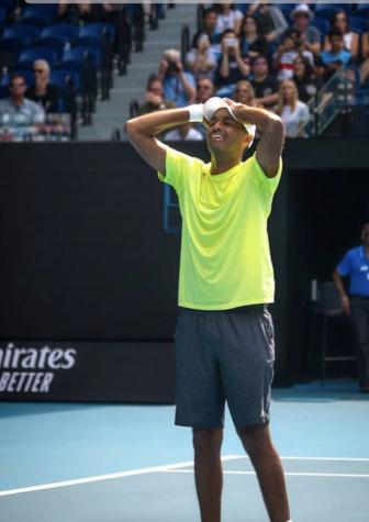 Rajeev Ram smiles after winning the Australian Open's men's doubles competition on Feb. 2. Ram won the mixed doubles competition in the same tournament in 2019.