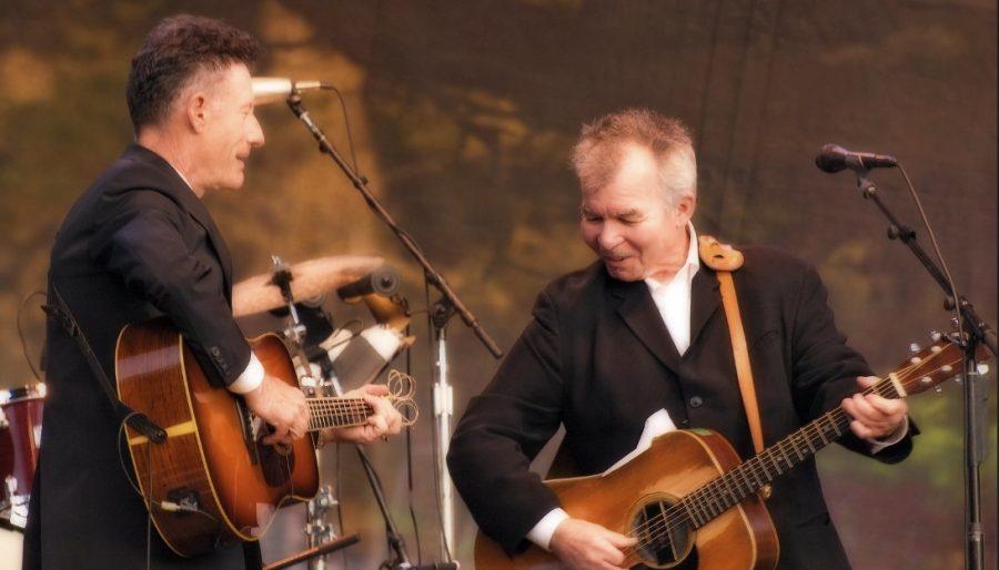 John Prine and Lyle Lovett perform live on Oct. 2, 2009.