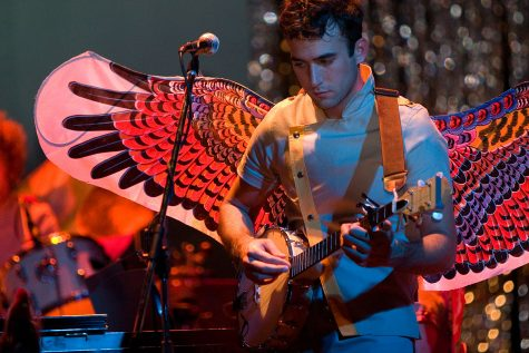 Singer Sufjan Stevens performs at the Pabst Theater in Milwaukee on Sept. 25, 2006.
