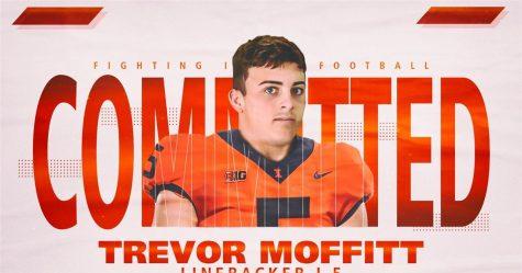 Illinois football committ Trevor Moffitt poses for a promotional photo.