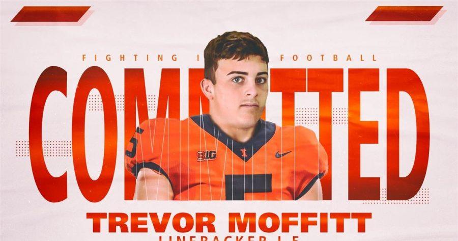 Illinois+football+committ+Trevor+Moffitt+poses+for+a+promotional+photo.