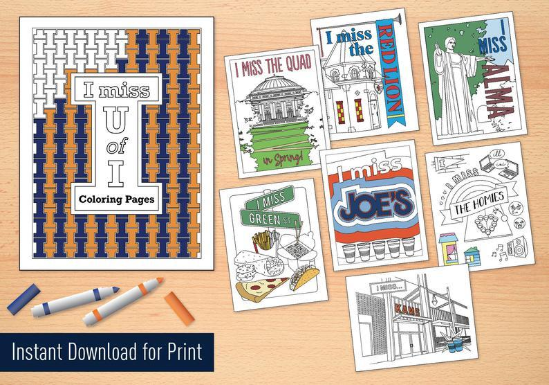 Kathleen+Noren%2C+a+freshman+in+Graphic+Design%2C+created+these+Illinois-themed+coloring+pages+to+raise+money+for+United+Way.