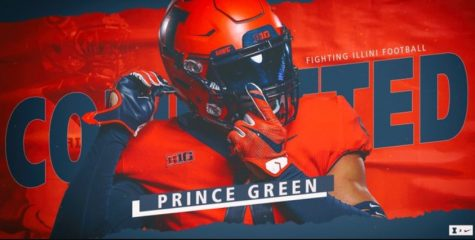 A promotional photo shows that Prince Green has committed to Illinois.