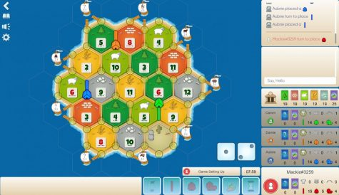 A user plays a game of Colonist.io online.
