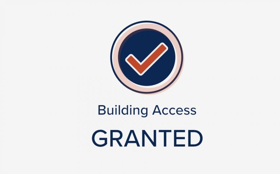 An Access Granted building entry status from the Safer Illinois app. Wellness Support Associates at every academic building must be shown this message on the app or on the COVID-19 boarding pass before granting entry to any student, faculty or staff.