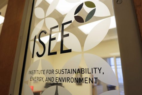 The door to the ISEE office located in the National Soybean Research Laboratory sits closed on Jan. 24, 2019.