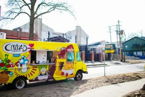 The Cracked: The Egg Came First food truck sits parked out front of Joe's Brewery during Unofficial on March 1, 2019. The truck will be moving to Gary, Indiana this Saturday after eight years in the C-U community.