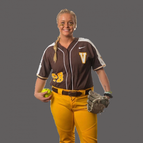 Kelsie Packard poses for a headshot when she was a pitcher at Valparaiso. Packard has recently transferred to Illinois to continue her softball career.