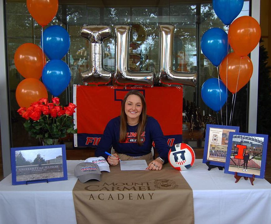 Redshirt freshman Ellie Holzman officially commits to the University of Illinois on Nov. 29, 2018. Holzman is expected to fill some of the gaps left by the prior seniors.