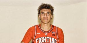 Freshman basketball recruit Coleman Hawkins poses for a headshot.