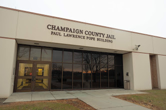 The entrance to the Champaign County Jail on Nov. 24 is pictured above. The Champaign County Jail has avoided COVID-19 outbreaks with testing efforts and decreased capacity.