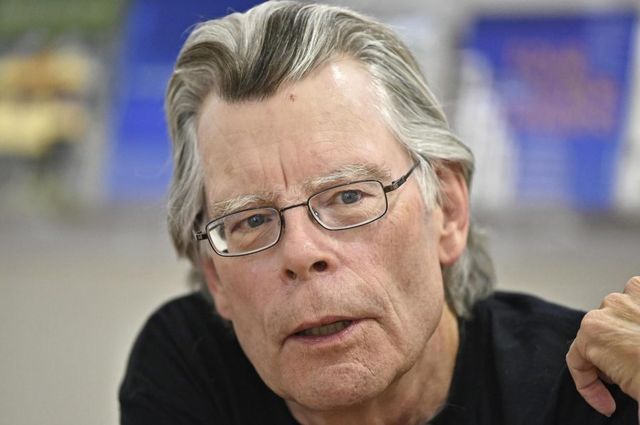 Author Stephen King is pictued speaking above. Columnist Noah maintains King impresses with writing in diverse styles.
