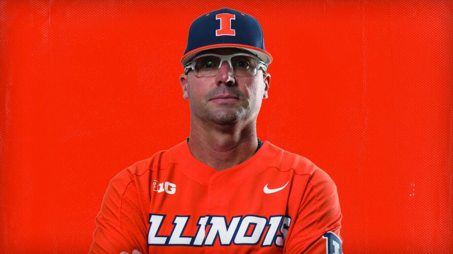 Illinois pitching coach Mark Allen poses for a professional headshot on Oct. 8, 2019. Allen joined the team one year ago.