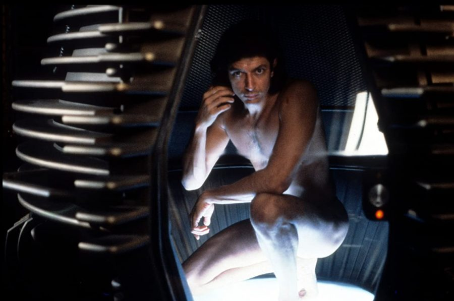 Jeff Goldblum stars in The Fly. The film was released on Aug. 15, 1986.