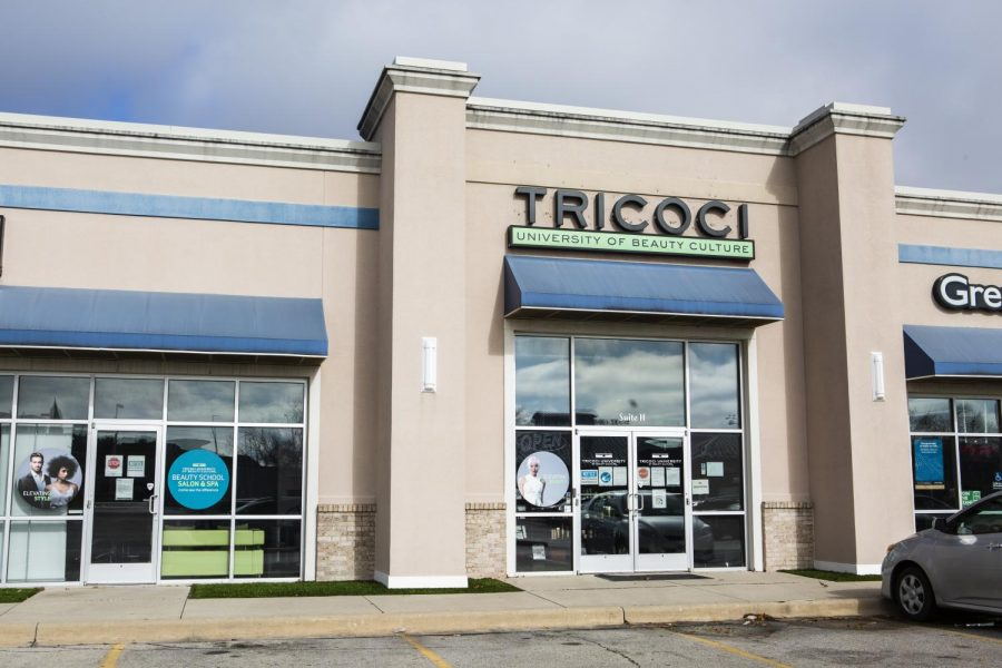 Tricoci University of Beauty Culture stands tall on November 11, 2020 parallel to University Avenue in Urbana.