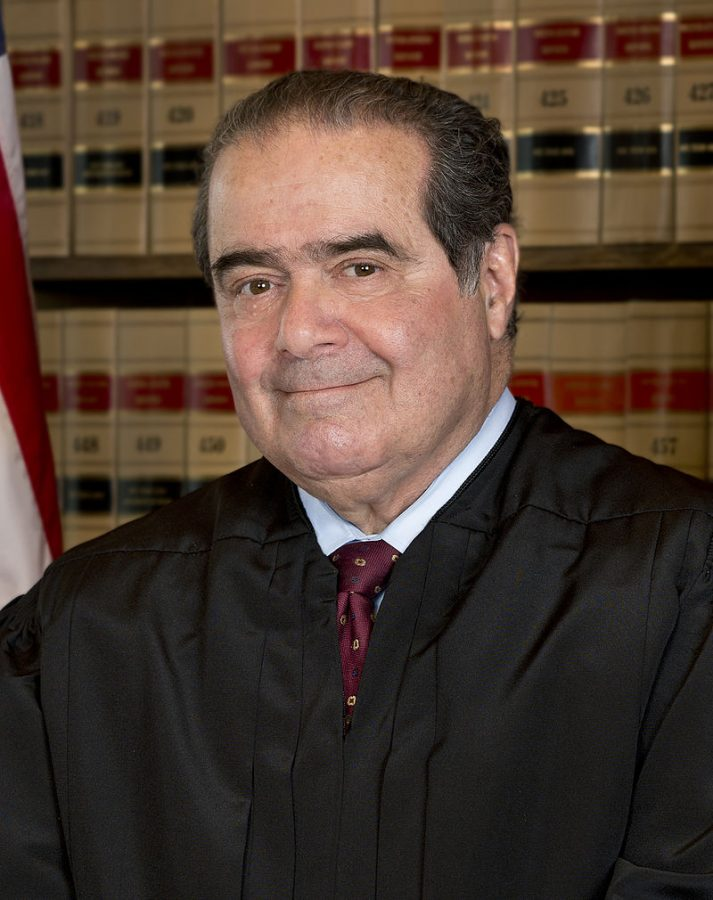 Justice Antonin Scalia poses for a headshot on March 21, 2013.